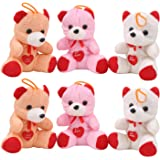 Glitter Collection Teddy Bear - Combo 6 Pcs -Multi Color