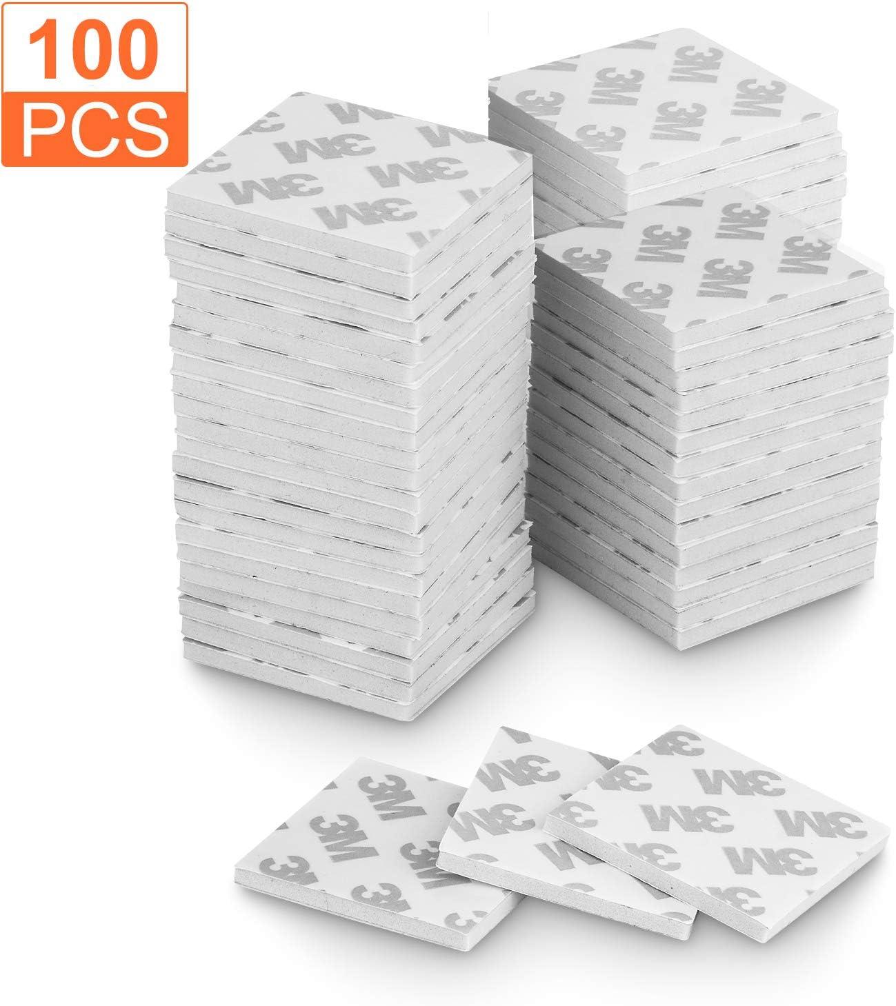 Cuscinetti biadesivi colore: bianco super resistenti in schiuma autoadesivi A+Selected 100 pezzi quadrati