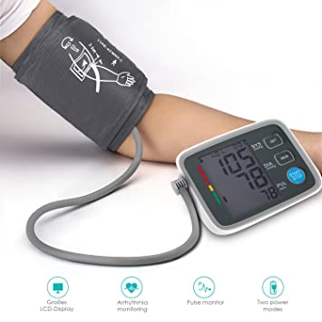 Tensiómetro de Brazo Eléctrico U-Kiss Monitor Digital de Presión Arterial LCD Pantalla para medir