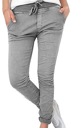 Femme Pantalon De Loisirs Elégante Confortables Slim Fit Longues Pantalon  Chino Femme Festive Mode Couleur Unie 79782681f3d9