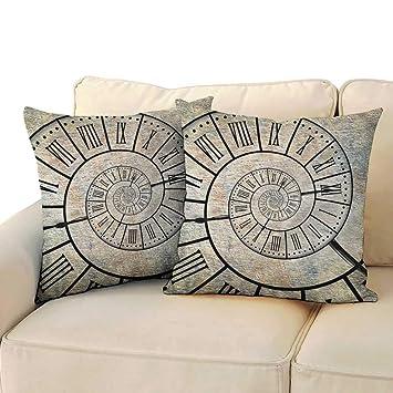 Amazon.com: Clayee fundas de almohada Queen Clock, adornos ...