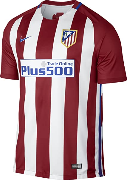 big sale fefd7 3ebb8 Nike Men's Atletico Madrid Home Stadium Soccer Jersey (Large) Red, White