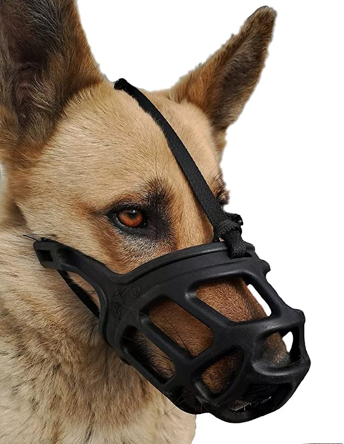 Breathable Adjustable Medium and Large Dogs Dog Muzzle with Soft Fabric for Small Chewing Anti Biting