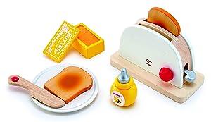 Hape Pop-Up Toaster Play Set, (7 Pieces)