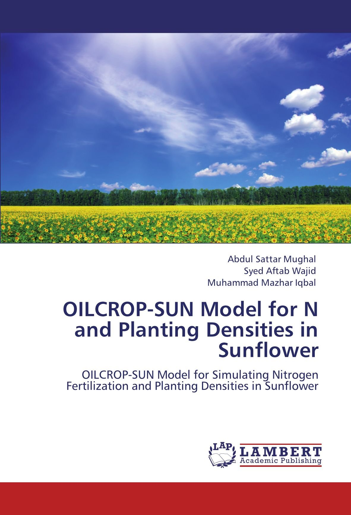 Download OILCROP-SUN Model for N and Planting Densities in Sunflower: OILCROP-SUN Model for Simulating Nitrogen Fertilization and Planting Densities in Sunflower ebook