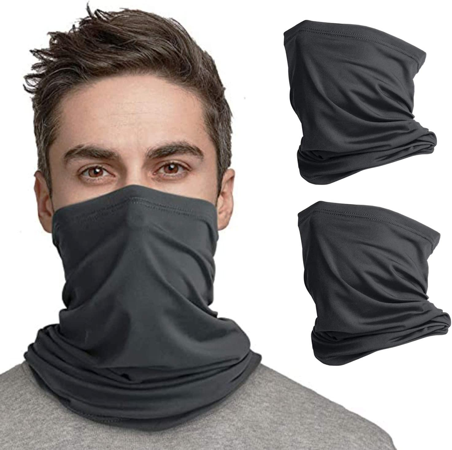 2pcs UNISEX Snood Face Covering women/'s Mask bandana Neck men Scarf Head Band UK