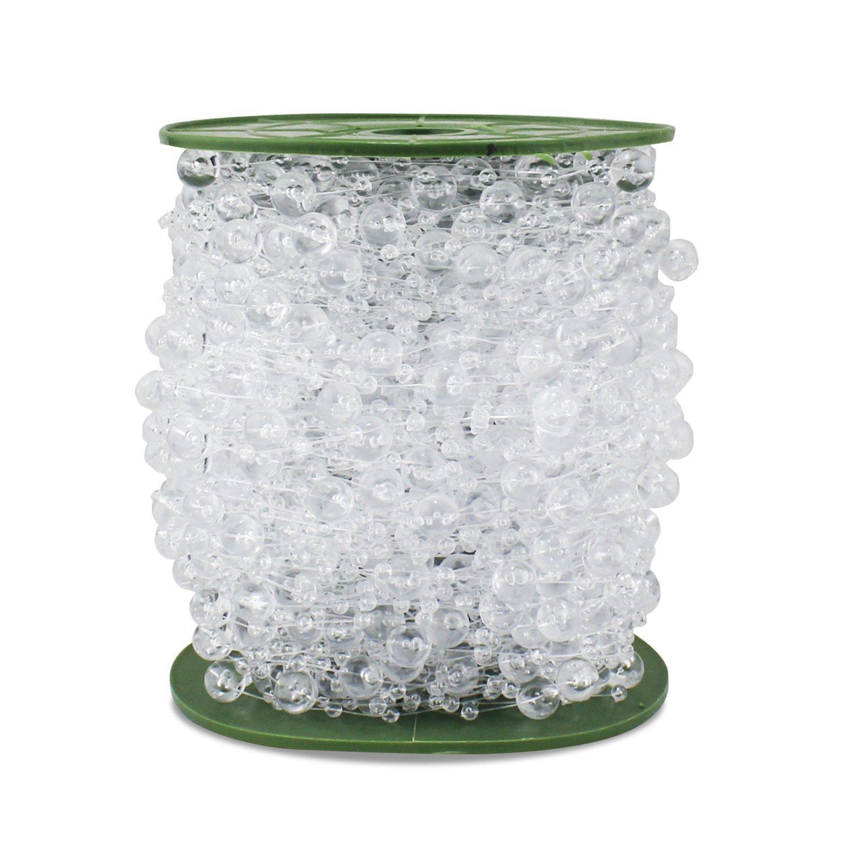 Amazon.com: 200 Feet Roll Clear Crystal Acrylic Party Garland ...