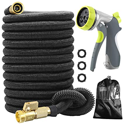 CACAGOO Garden Hose Flexible Hose with 8 Functions Sprayer 50 FT Expandable Water Hose with Double Latex Core