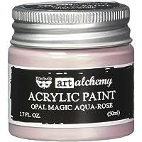 Prima Marketing 963613 Finnabair Art Alchemy Acrylic Paint, 1.7 fl. oz, Opal Magic Aqua/Rose