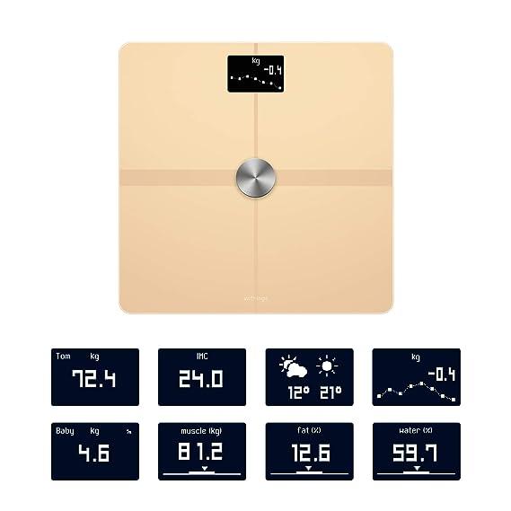 Withings/Nokia Body+ - Báscula wifi de composición corporal, Arena Claro: Amazon.es: Salud y cuidado personal