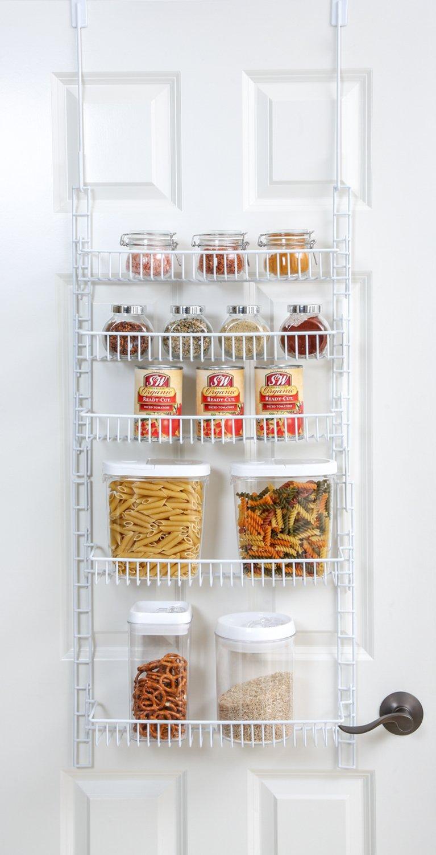PRO-MART DAZZ Over The Door Adjustable Pantry Organizer Rack, 5 Shelves, Small