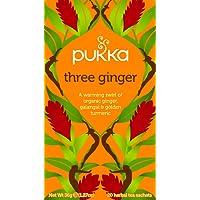 Pukka Three Ginger Herbal Tea Bags, 20 Count, 1.8 Grams