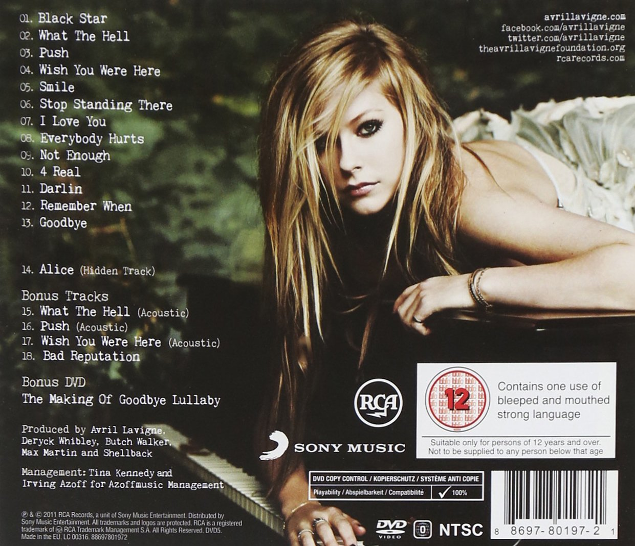 Avril Lavigne Goodbye Lullaby Deluxe Edition Amazon Com Music
