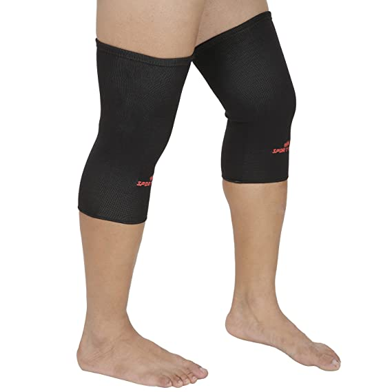SportSoul Compression Knee Support- (Pack of 2) Exercise & Fitness Straps at amazon