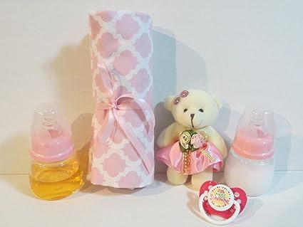 Amazon.com: 2 Reborn Baby Doll Bottles 2oz PINK Fake Milk ...