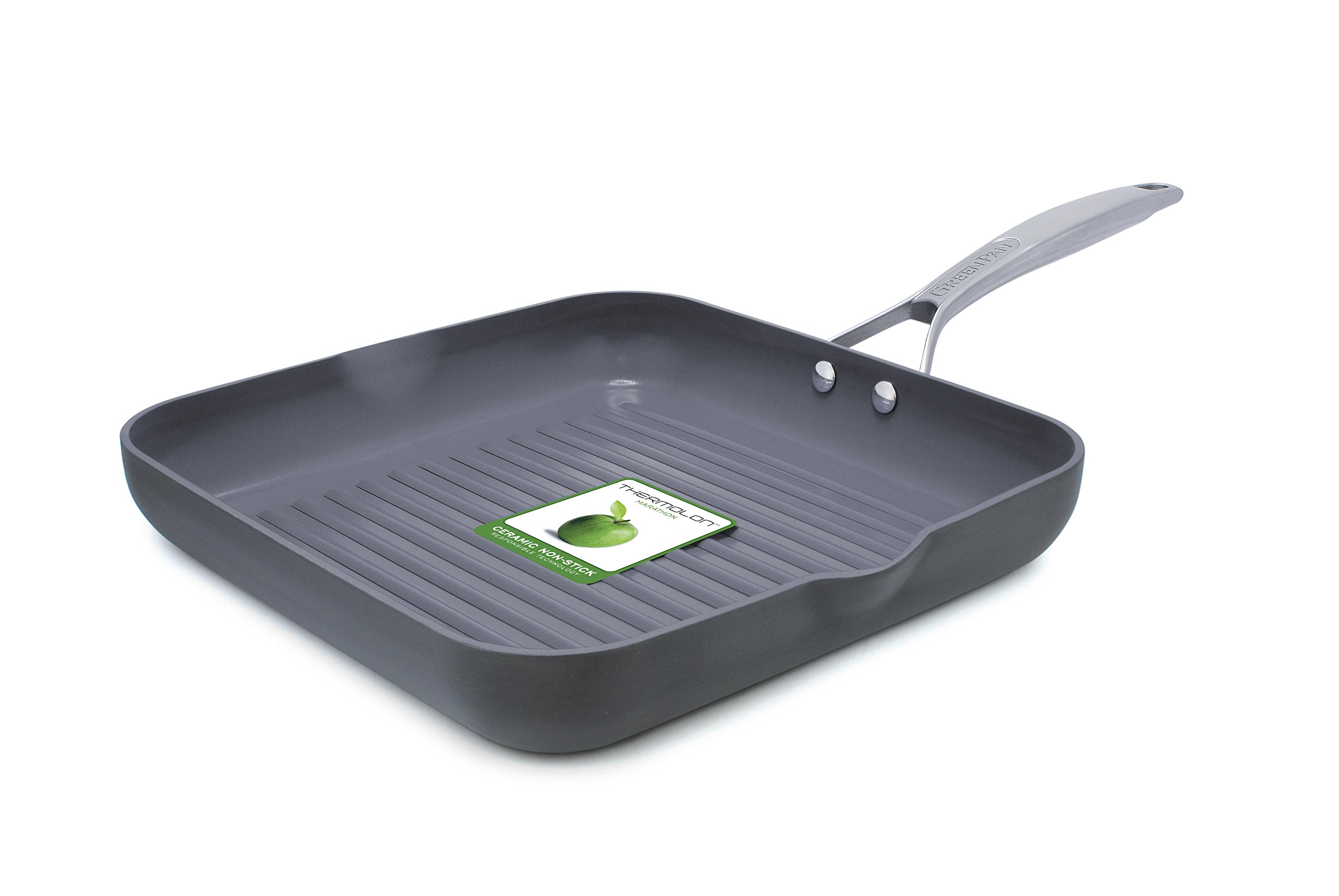 GreenPan Paris 11 Inch Ceramic Non-Stick Square Grill Pan
