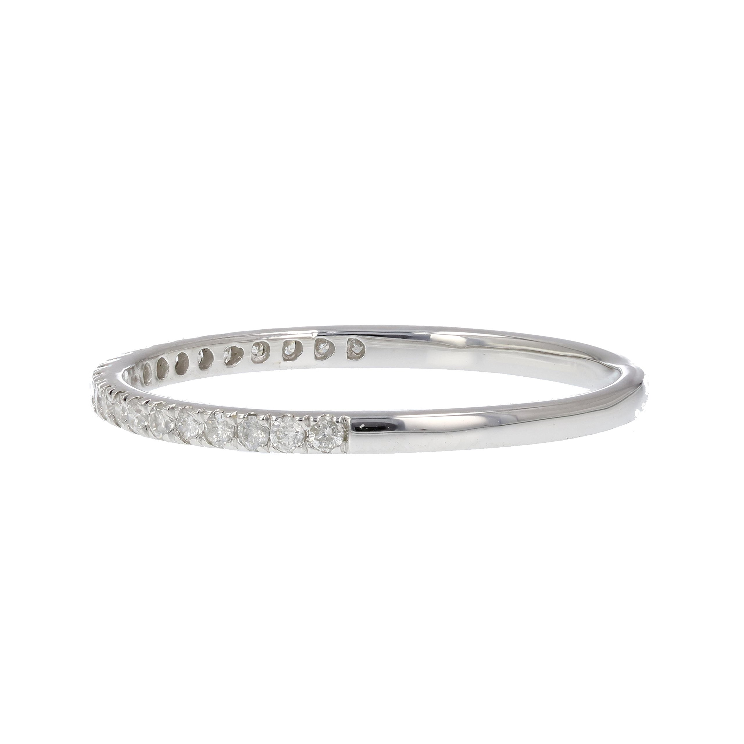 1/6 ctw Pave Diamond Wedding Band in 10K White Gold In Size 5 by Vir Jewels (Image #2)
