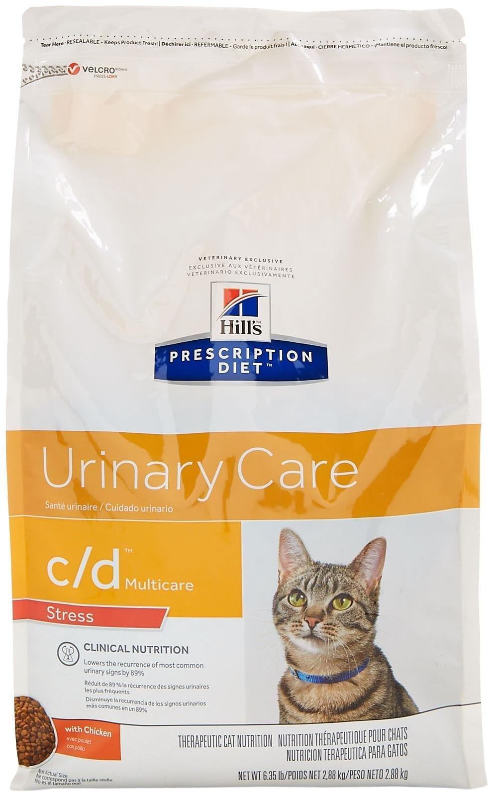 Hill's Prescription Diet C/D Multicare Feline Stress Urinary Care - Chicken - 6.35Lb by Science Diet
