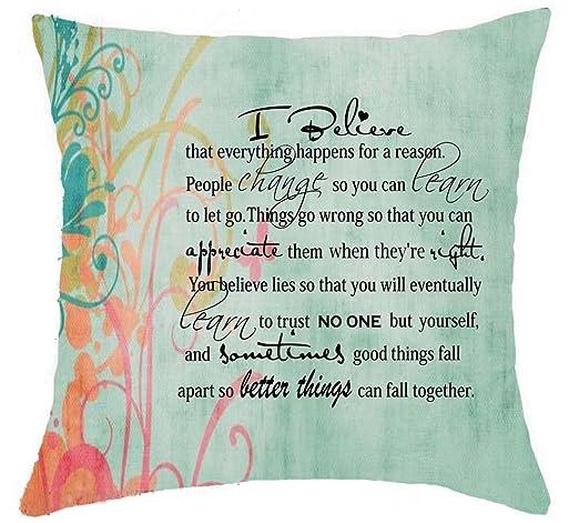 Planta Fondo frases inspiradoras Cotton Linen manta funda de ...