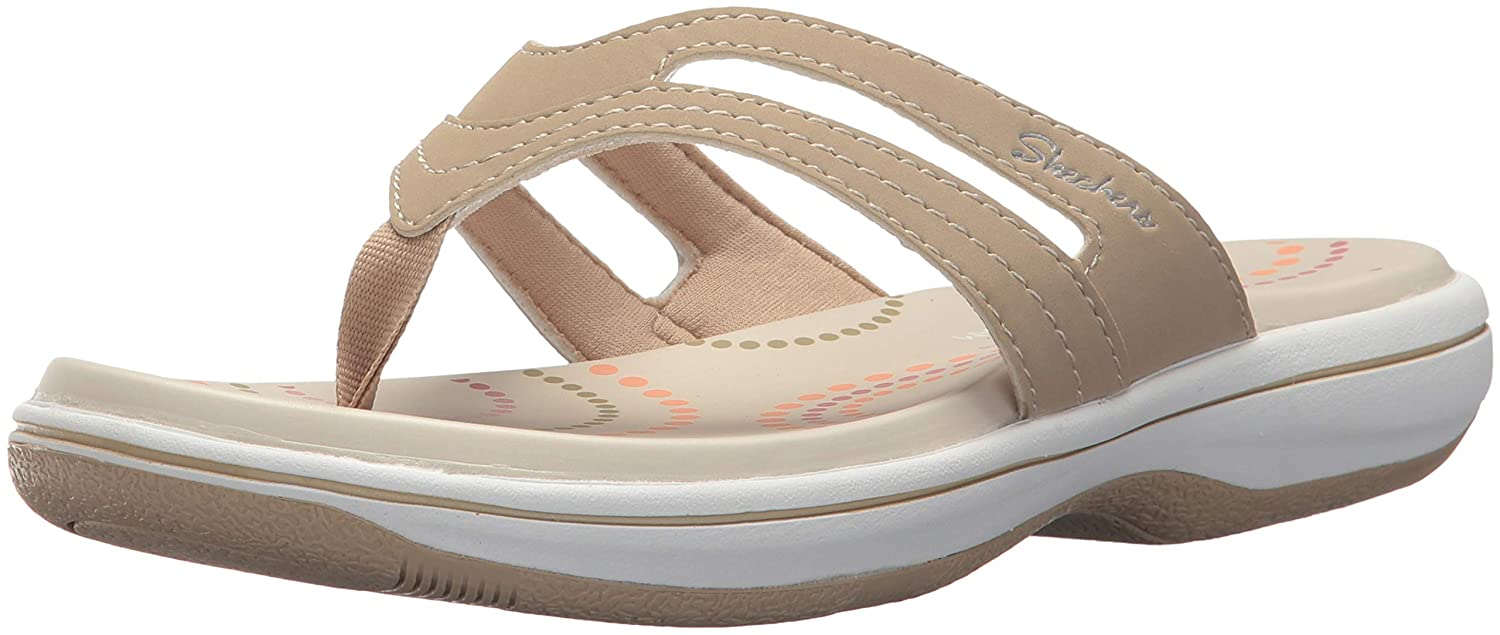 121895dead1 Skechers Women s Bayshore Flip-Flops  Buy Online at Low Prices in India -  Amazon.in