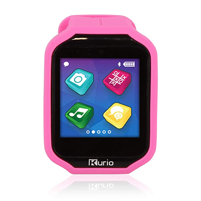 newest b8b5c 1e2ab KD Interactive Kurio Watch 2.0+ The Ultimate Smartwatch Built for Kids with  2 Bands, Pink & Color Change