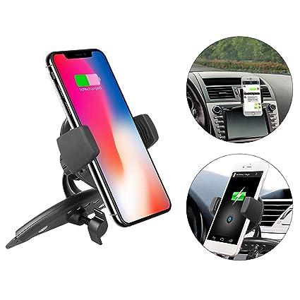 Amazon.com: EEEKit Qi - Cargador inalámbrico de coche con ...