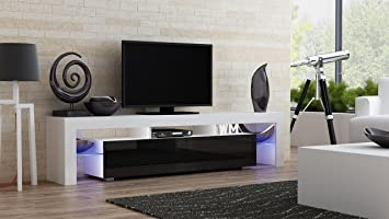 Amazoncom TV Stand MILANO 200 Modern LED TV Cabinet Living