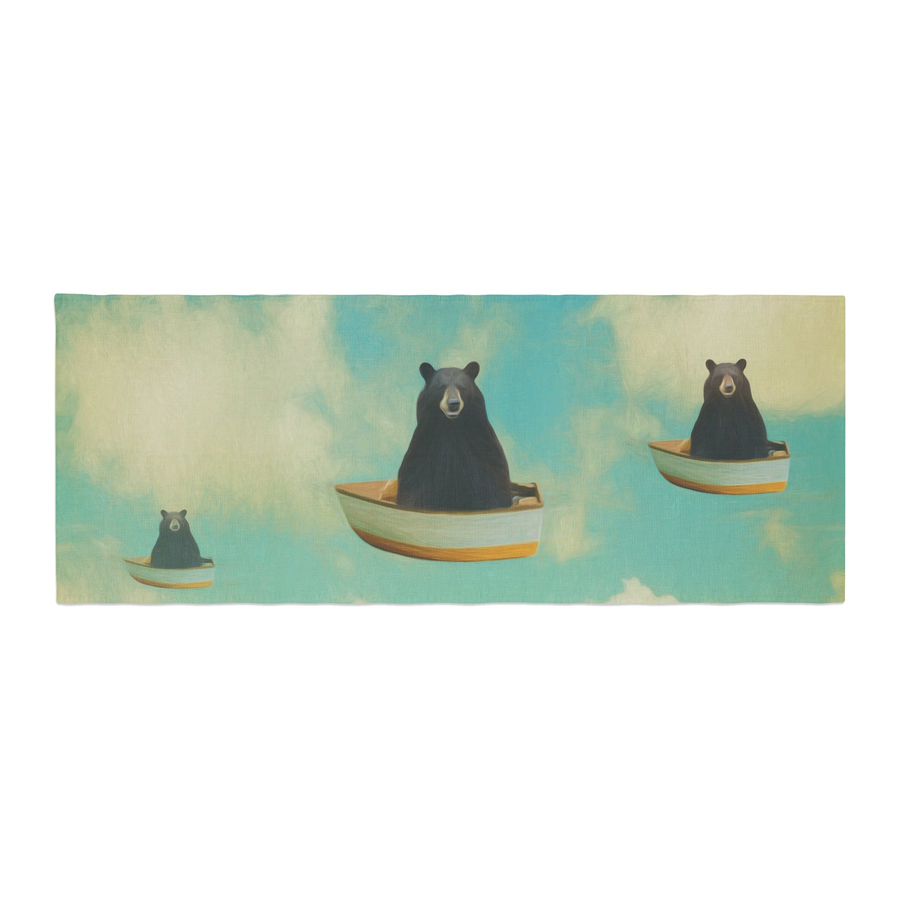 Kess InHouse Natt Bears Floating Animals Bed Runner, 34'' x 86''