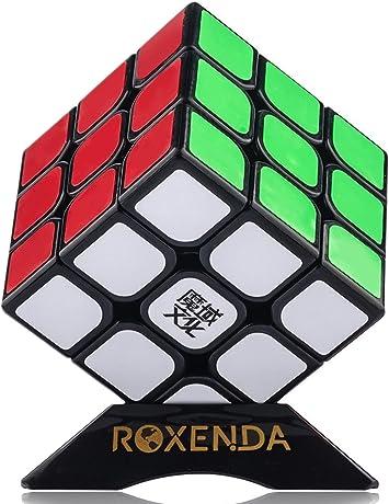 Roxenda Moyu Aolong profesional Cubo Mágico 3x3x3 Puzzle cubo de la velocidad V2 juguetes clásicos (Black): Amazon.es: Juguetes y juegos