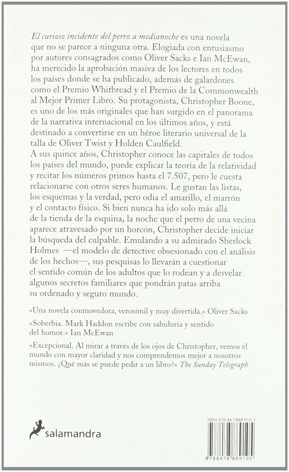 Curioso Incidente del Perro a Medianoche, El (Narrativa): Amazon.co.uk:  Mark Haddon: 9788478889105: Books