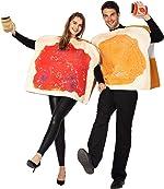 Peanut Butter and Jelly PBJ Costume Adult Couple Set w/one Peanut