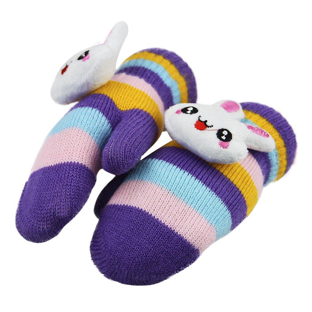 Kids Unisex Thicken Knit Mittens with String Children Thick Warm Girls Boys Thermal Warmer Cartoon Gloves Winter Glove Super Warm Soft /& Cute Perfect Gift For Kids