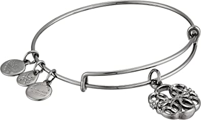 CustomCharms Connecticut State Expandable Wire Charm Bracelet Bangle w//Red Color Crystals