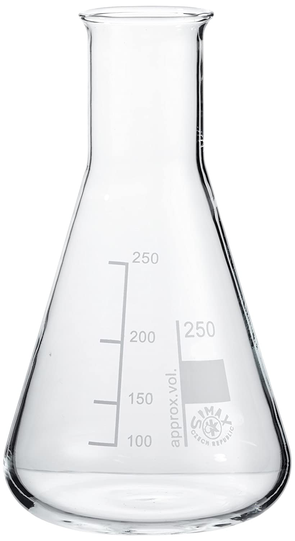 neoLab E-1060 narrow neck Erlenmeyer flasks, 250 ml, pack of 10