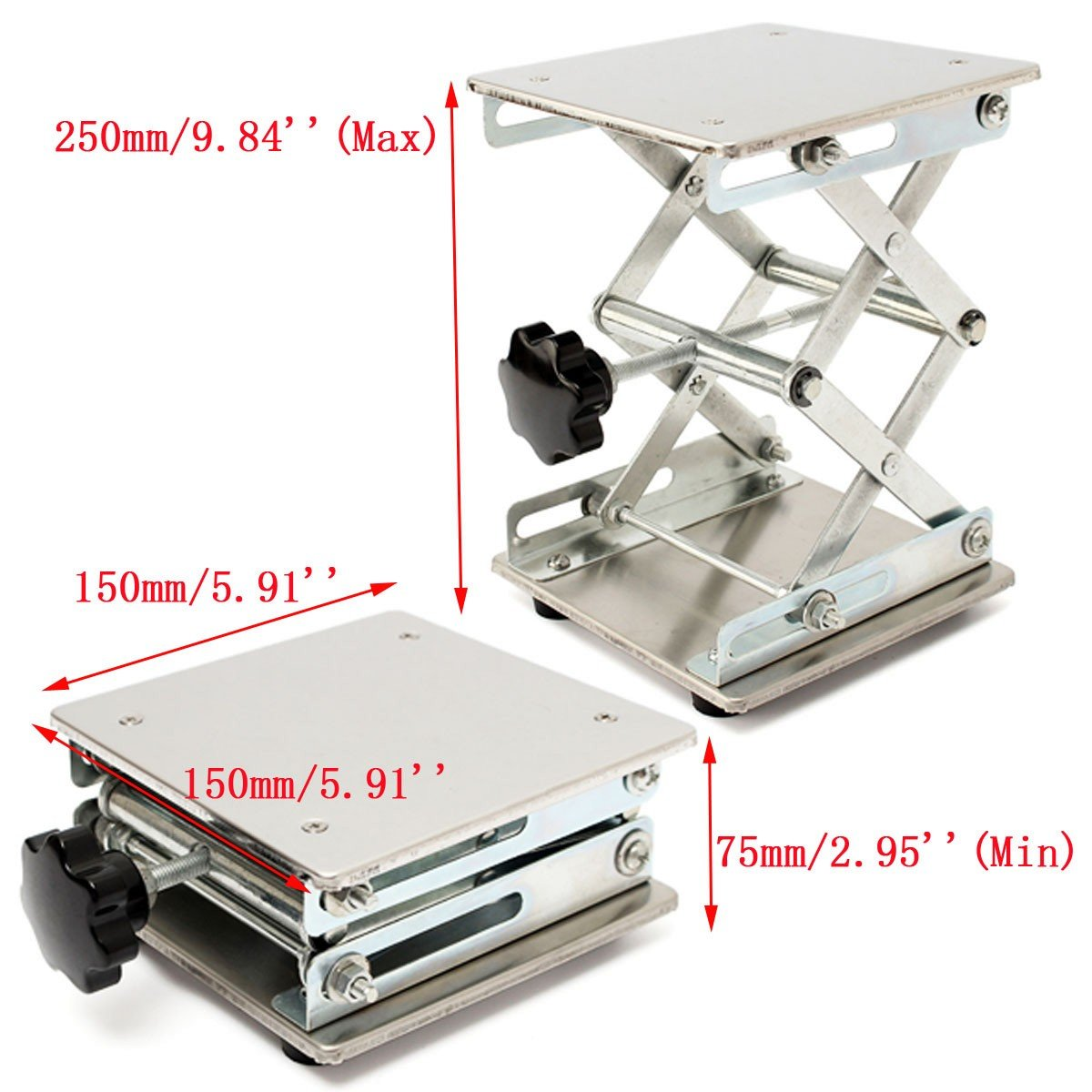 Letbobg New Lab Stand Table Scissor Lift laboratory 150150mm by Letbobg (Image #6)