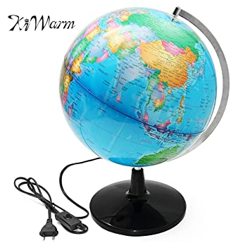 Amazon zilzol 32cm electric led world globe atlas map rotate zilzol 32cm electric led world globe atlas map rotate stand geography educational kid gift home desk gumiabroncs Image collections