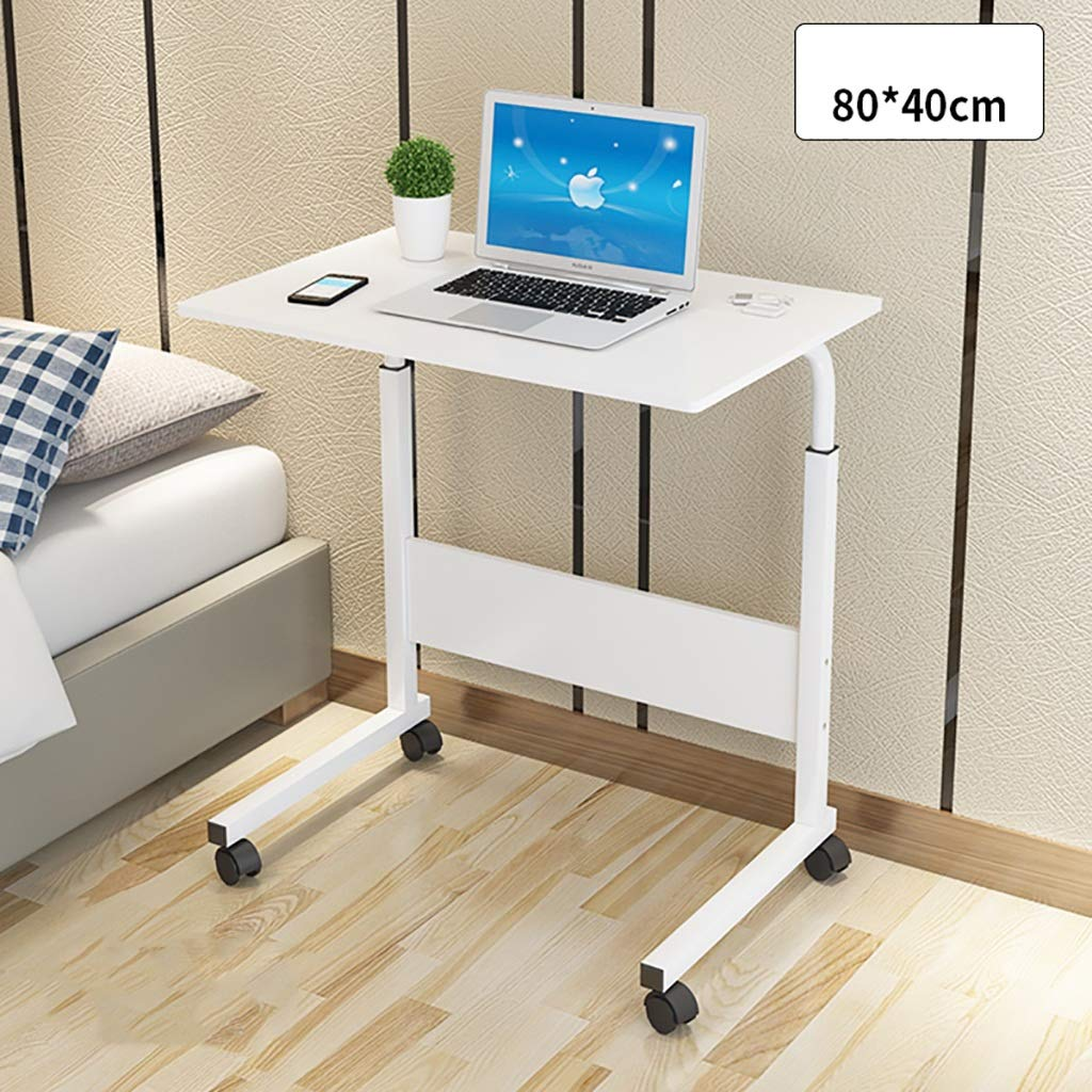 A Computer Desk Lazy Bedside Table Simple Desk Movable Lifting Desktop Household Dorm Room Simple Small Table in Bed (color   B)