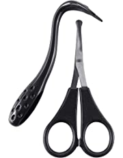 Mikki Dog and Cat Ear and Face Grooming Care Set, Scissors and Comb Set for Face, Ear, Nose and Paw