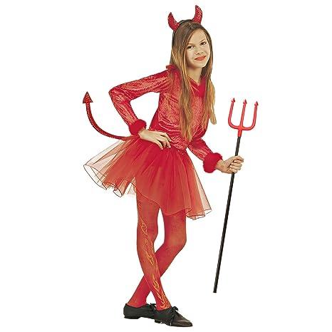 Costume Bambina Diavoletta Taglia 128 cm   5-7 Anni  Amazon.it ... 52c1d833414