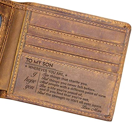 Amazon Com Sense Gifts Men Wallet For Son From Mom I Hope