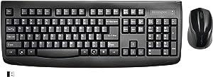 Kensington Pro Fit Wireless Combo Mouse and Keyboard Desktop Set (K72324US), Black