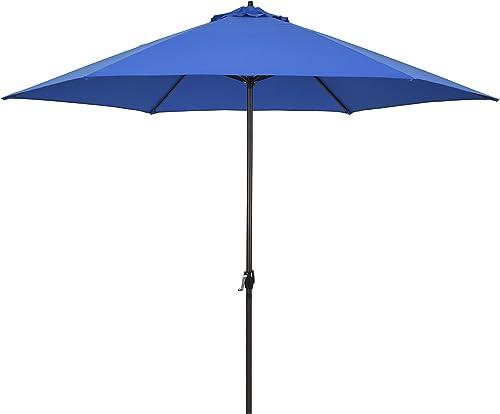 Astella 11' Rd Crank Open Aluminum Market Umbrella