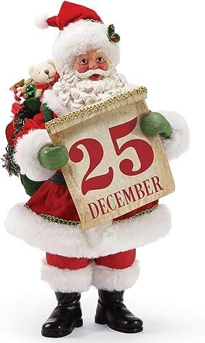 Department 56 Possible Dreams Santa Save The Date Figurine, 10.5 Inch, Multicolor