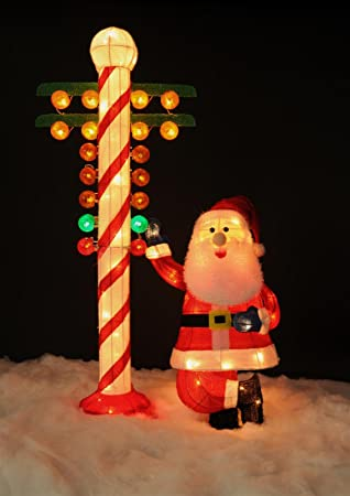 Amazon christmas drag racing santa with north pole candy cane christmas drag racing santa with north pole candy cane staging light post christmas tree outdoor holiday aloadofball Images