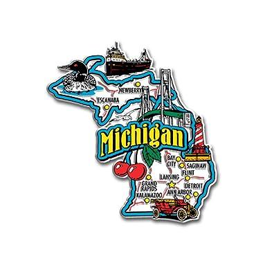 Michigan State Jumbo Map Magnet