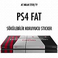 PS4 FAT Sökülebilir Koruyucu Sticker - A.C Milan Forma Seti