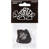 Dunlop 488R50 .50mm Tortex Pitch Black Guitar Picks, 72-Pack