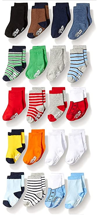 Little Me Baby Boys' 20 Pack Socks, Assorted, 0-12 Months/ 12-24 Months
