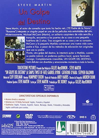 Un Golpe Del Destino [DVD]: Amazon.es: Steve Martin, Gabriel ...