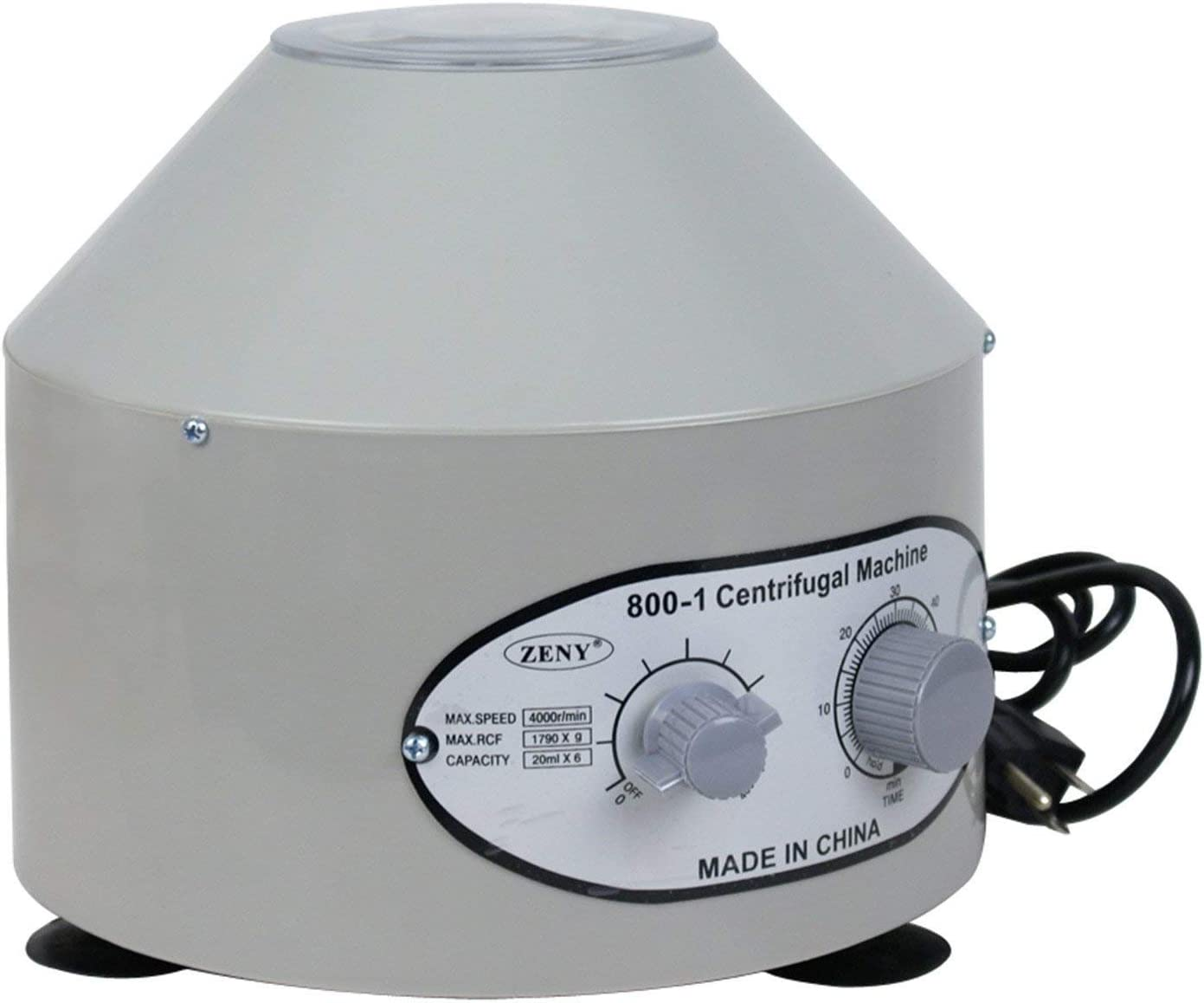 Electric Centrifuge Desktop Machine Medical with Timer Speed Control 4000RPM Capacity 20 ml x 6 Rotor Lab Laboratory